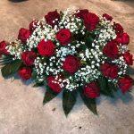 bloemstuk druppel rood wit